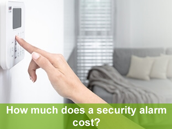 How much does a security alarm cost?